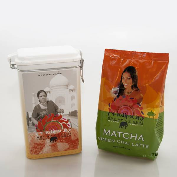 Chaipur Chai Matcha 500g + Vorratsdose