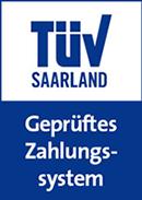 Klarna wurde vom TÜV Saarland geprüft.